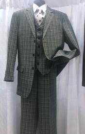Breasted Plaid Pattern Gray