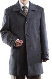 Breasted Gray Luxury Wool
