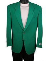 ID#DB24424  2 Button Green Notch Lapel Best Cheap Blazer Affordable Cheap Priced Unique Fancy For Men Available Big Sizes on sale Suit Jacket For Men Affordable Sport Coats Sale