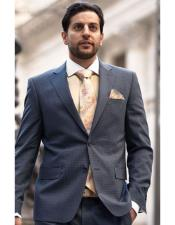 Breasted Grey Notch Lapel