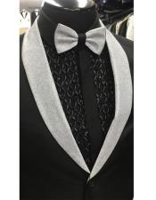 Grey Shawl Lapel Black