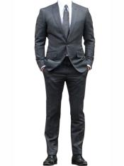 Button Suit Tuxedo Grey