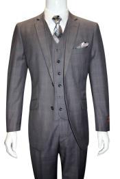 Breasted Grey 100% Wool
