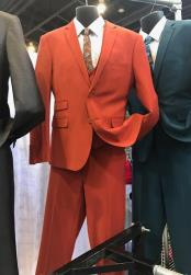 Notch Lapel Hot Red