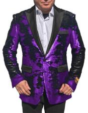 Shiny Sequin Glitter Tuxedo