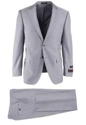 Breasted Light Gray Wool