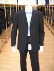 Single Breasted Navy Blue Suit
