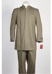 ID#NM388 Mens Denim Jean 5 Button  Dark Olive Suit
