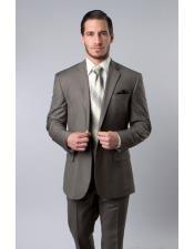 Breasted Wool Platinum Stripe