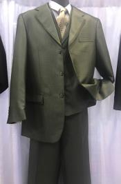 Fashion Vested Dark Olive