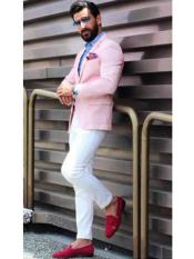 Pink Notch Lapel Slim