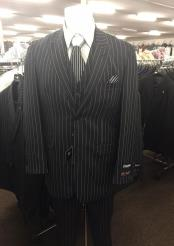 Button Pinstripe Suit Pattern