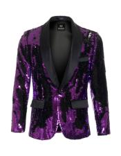 Purple Sequin Blazer -