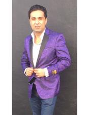 ID#KO18859  Alberto Nardoni Paisley Purple Mens Fancy Party Best Cheap Blazer Suit Jacket For Affordable Cheap Priced Unique Fancy For Men Available Big Sizes on sale Men Sport Coats Sale