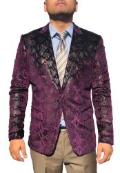 ID#DB21189 Sequin Glitter ~ Shiny ~ Paisley  Purple Affordable Cheap Priced Unique Fancy For Men Available Big Sizes on sale Sport Coat Fashion Fancy Party Best Cheap Blazer Suit Jacket For Men Affordable Sport Coats Sale