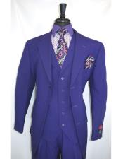 Purple Vested 3 Piece