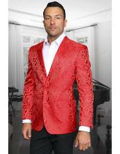 Single Breasted Red Sport Coat