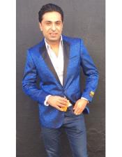 ID#KO18860 Royal Light Blue Perfect for wedding  Alberto Nardoni Mens Best Cheap Blazer Suit Jacket For Affordable Cheap Priced Unique Fancy For Big Sizes on sale Men jacket Affordable Sport Coats Sale