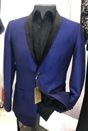 Breasted Royal Blue Fancy