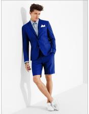 Button Royal Blue Suit