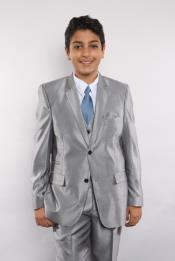 Piece Silver Suit Vested