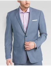 ID#DB19525 Sky Blue ~ Light Blue Inexpensive ~ Cheap ~ Discounted Clearance Sale Extra Slim Fit Prom Suits