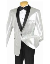 Blazer Mens Silver Black