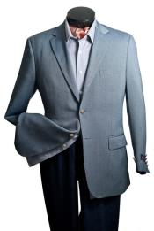 SKUPN#78  Sport coat Blazer Suit Jacket- Notch Collared Steel Blue