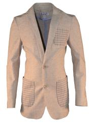 Notch Lapel Tan Linen