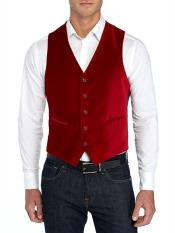 ID#SP24919 Button closure Vest Red  Tuxedo Perfect for Prom