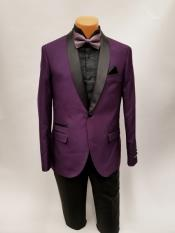 ID#DB23907  1 Button Shawl Lapel Prom Wedding Purple Tuxedo Best Cheap Blazer For Affordable Cheap Priced Unique Fancy For Men Available Big Sizes on sale Men Affordable Sport Coats Sale