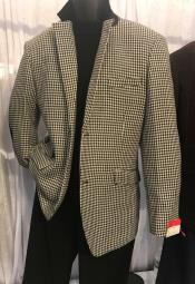 Breasted White/Black Houndstooth Best