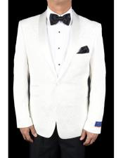 One Button White Tuxedo