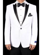 One Button Tuxedo White