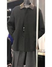 Breasted Wool Car Coat