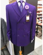 Button Purple Double Suit