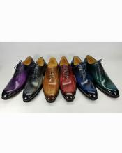 ID#KO19377 Six Colors Luxury Leather Polished Lace Up Style Carrucci Shoes