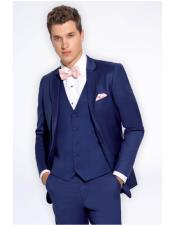 Blue  Notch Lapel