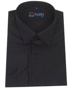 ID#UN4875 Dress Cheap Fashion Clearance Shirt Sale Online For Men Slim Fit Dark color black