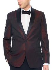 Dark Red Suit Slim