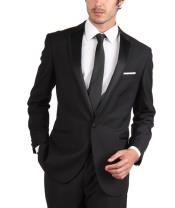 ID#PN47 Tapered Leg Lower Rise Pants & Get Skinny Slim Fit Tuxedo Single Button