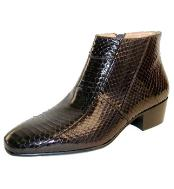 Brown Alligator Shoes