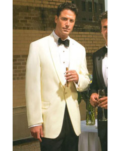 ID#AC86Z Merino Wool fabric Snow White Shawl Collar Dinner Jacket