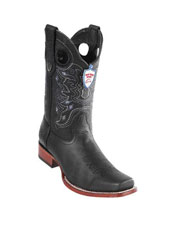 ID#DB18788 Handmade Black Wild West Genuine Rage Cowboy Leather Square Toe Boots