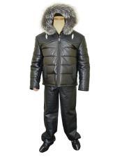 Stingray/Leather Black Jacket With