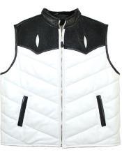 Stingray White/Black Zipper Vest