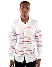 Down Striped White Slim