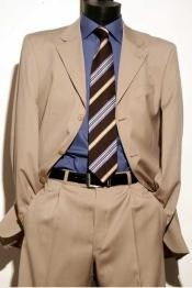 Three Button Beige Color Suit