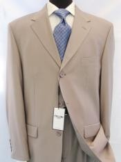 ID# 3BW199 Beige/Tan - Beige Business crafted professionally Three Button Style italian fabric Worsted Wool fabric Higher crafted professionally Suits for Men
