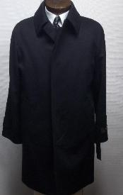 """Ryan121 38"""" three button  coat with a center-vent, fly front Overcoat"""